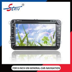8 inch size android 4.4.2 double-core gps car navigation for VW universal