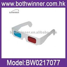 Promotional green magenta paper 3d glasses ,H0T539 aper eclipse glasses , promotion 3d viewer