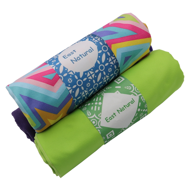 Manufacturer custom design printed microfiber towel for beach