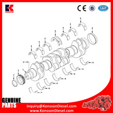 Factory Marine diesel engines crankshaft main bearing 3000140 3019148 3024923 With Good After-sale Service