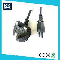 Excellent quality LAPTOP 3 PIN UK MAINS CLOVER LEAF POWER CORD C5 CABLE from oem factory