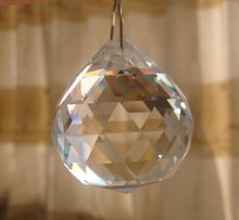 k9 clear CRYSTAL CHANDELIER BALLS WITH HOOKS FOR HANGING PRISM BALL