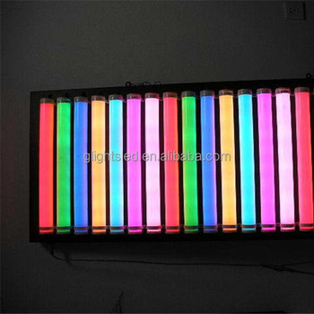 8W DMX control RGB 3d rgb led tube for outdoor video