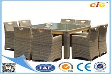 NEW Arrival Waterproof crushed glass laminate dining table