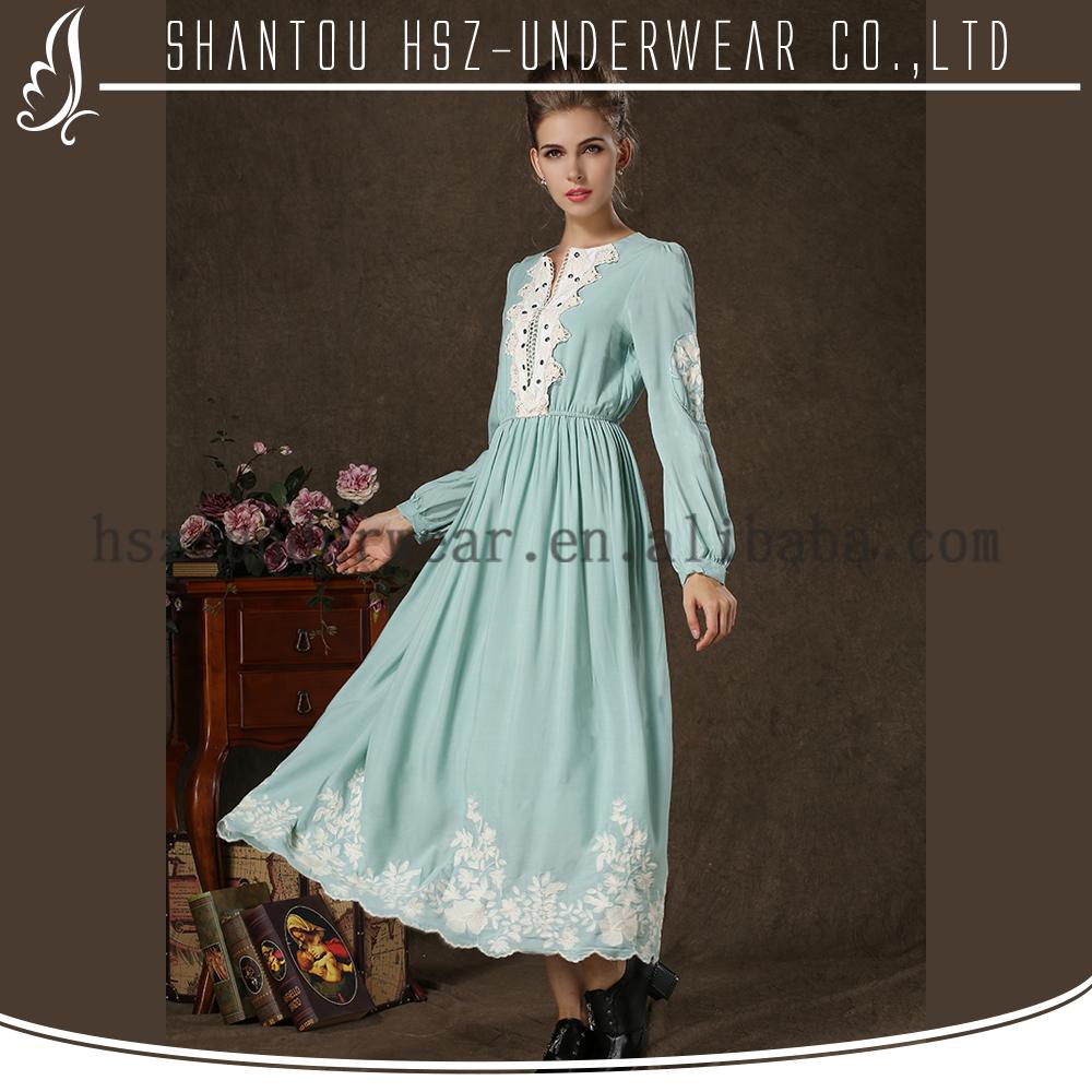 Md1701 Simple Vintage Style Plus Size Clothing Elegant Islamic ...