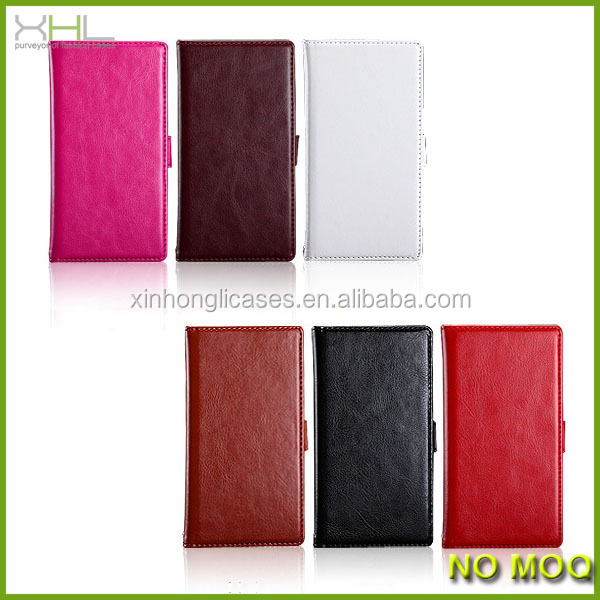 Flip wallet leather case for Sony xl39h, mobile phone case cover