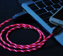 Micro USB Cable,Luminous Flowing EL LED Light Cable Charge and Sync Cord for Samsung,Android Smartphone