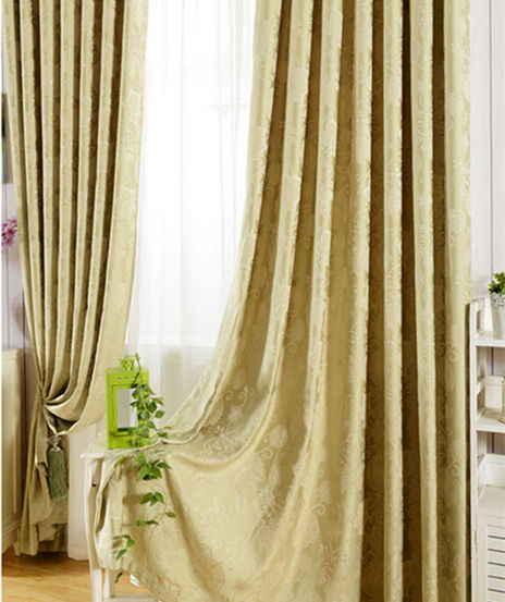 ALLBRIGHT 80% polyester 20% rayon fabric used floral door linen curtains