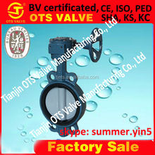 BV-SY- 197 GB/T 12238 multi-standard butterfly valve with positoner worm gear and positioner dn50
