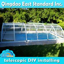 aluminum frame residential telescopic indoor swimming pool enclosures