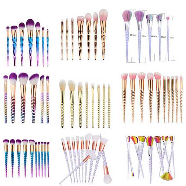 hot sell best makeup brushes refillable unicorn makeup brushes