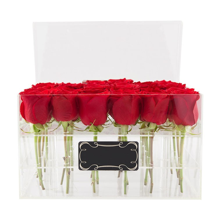 Round flower box/clear acrylic rose box