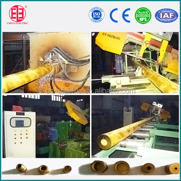 Brass pipe continuous casting line