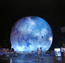 giant inflatable moon ball with led light for advertising