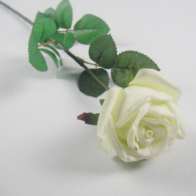 PU Material Diamond Rose Flowers For Wedding Decora Artificial Flowers For Sale Artificial Roses Artificial Ivory Rose Bouquet