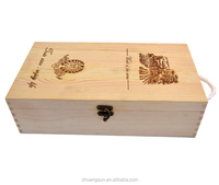 Triple Magnum Natural Rustic Antique Colored Wood Wine Bottle Storage Box