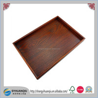 Custom Larger rectangular hotel industrial use wooden serving tray