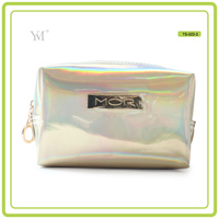 oem custom lady designer leather cosmetic make up pouch woman toiletry gift clutch bags made in china