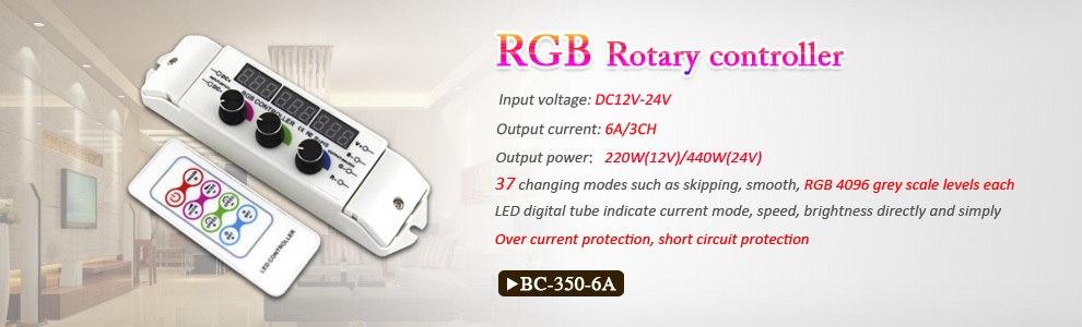Bincolor T3 R4 5A 4CH RGB led lighting controller with RF remote control