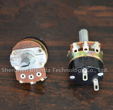 Adjustable resistance WH138-1 B500K potentiometer with switch dimmer switch speed controller