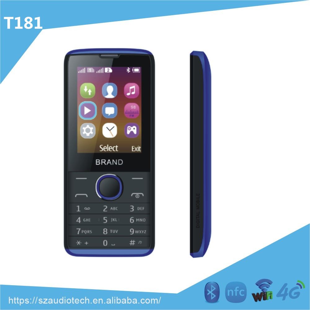 Wholesale 4 band 2.4 inch dual SIM card gsm gprs feature mobile phone