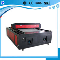 100w 120w 150w flatbed laser cutting machine for tailoring industry