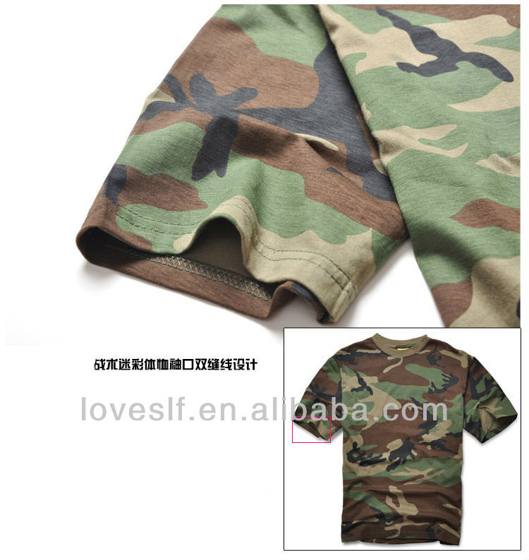 Loveslf military uniform camouflage T- shirt outdoor training clothing