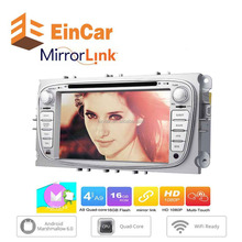Android 6.0 Quad-core 7inch Car Radio Stereo DVD Player for Ford Mondeo 2dinGPS Navigation BT FM AM RDS Radio Wifi Cam-In Canbus