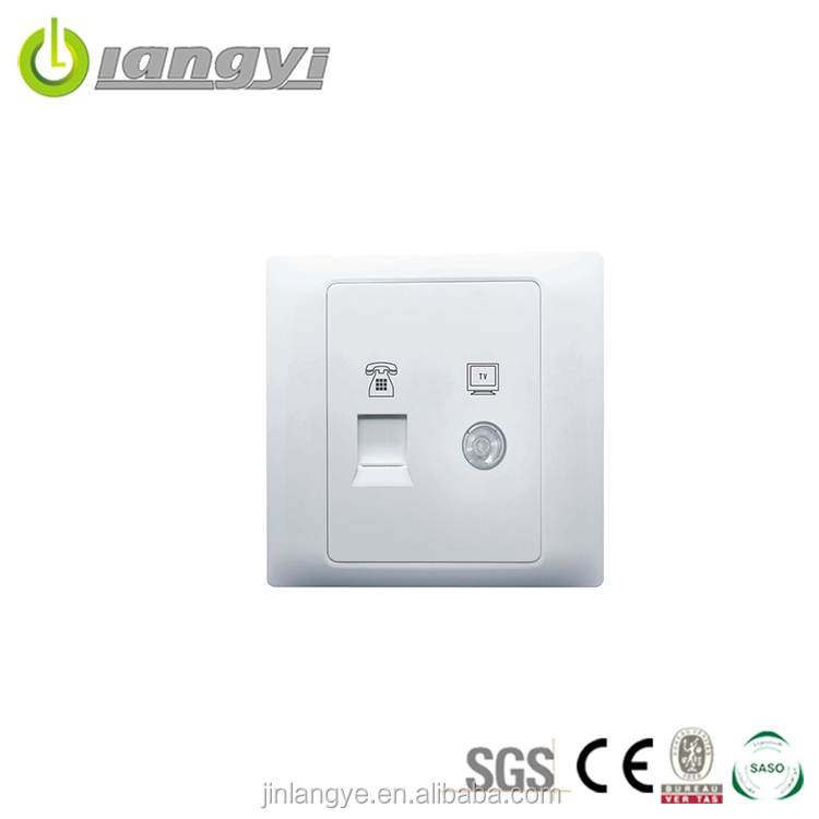 China Factory Direct Sale Tv And Teleone Wall Socket,Wall Socket,Socket