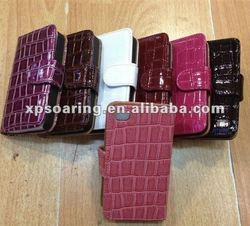 PU crocodile leather case for iphone 4g 4s