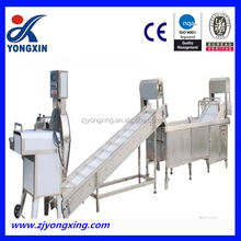 Bubble type fruit and vegetable washing and drying machines , clean vegetable processing line supplier
