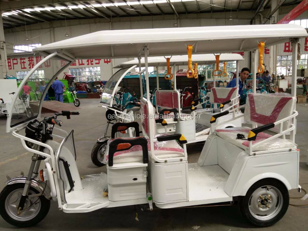 new type three wheel passenger bajaj tricycle/ motorcycle with steering wheel for 4-6pensons
