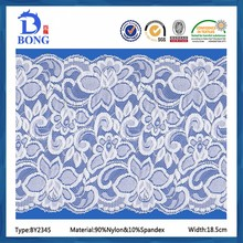 2016 cheap fashionable nylon hot sale elastic lace fabric