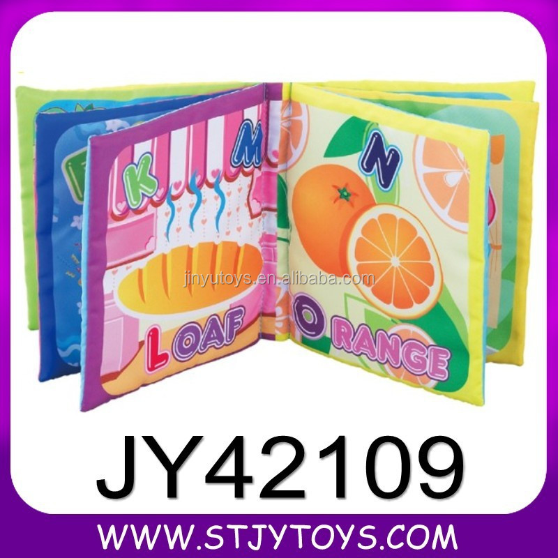 Educational baby bath soft book cloth toy abc books