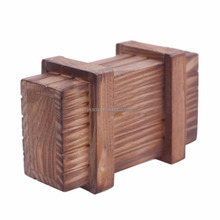 Gift Packing sliding lid wooden crate for gift