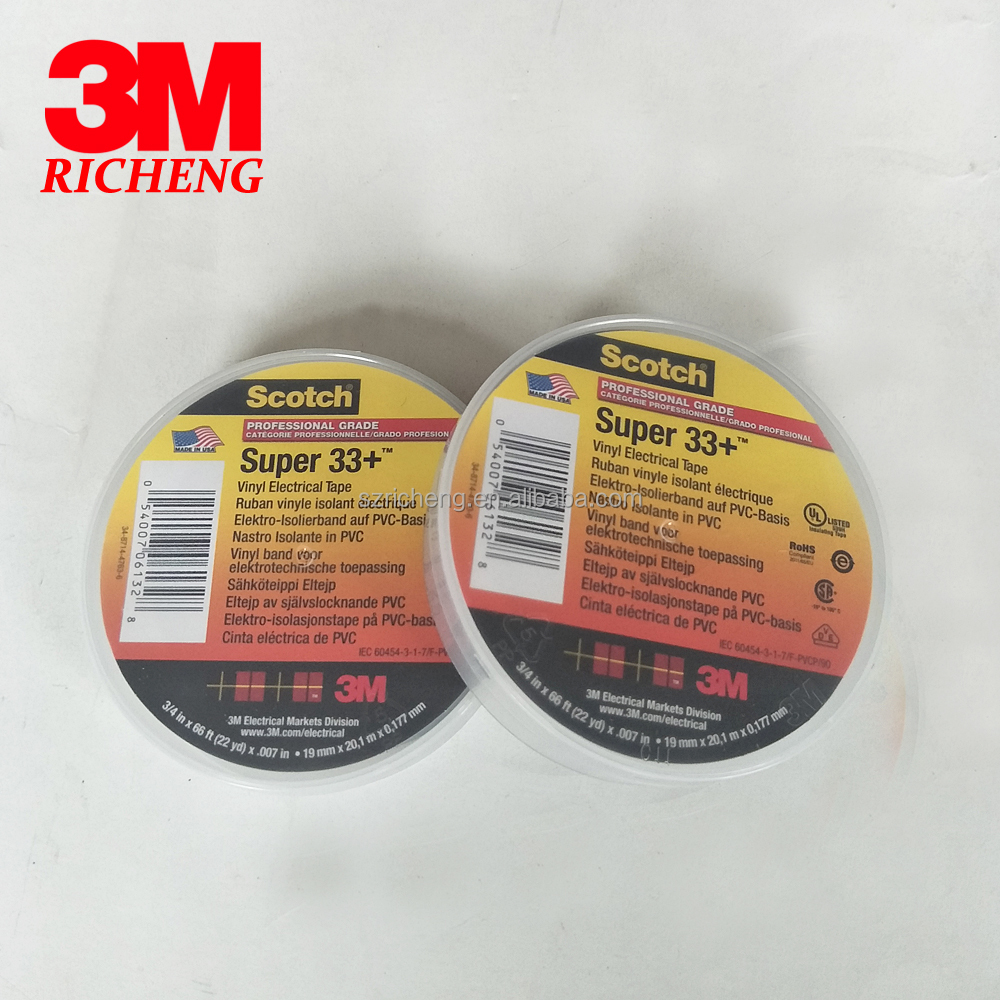 3M Scotch Tape super 33+ PVC electrical insulation tape 19mm * 20m electrical insulation tape,insulation tape,pvc tape wholesale