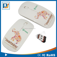 slim 2.4g wireless optical mouse with full color printing best for promotional gifts