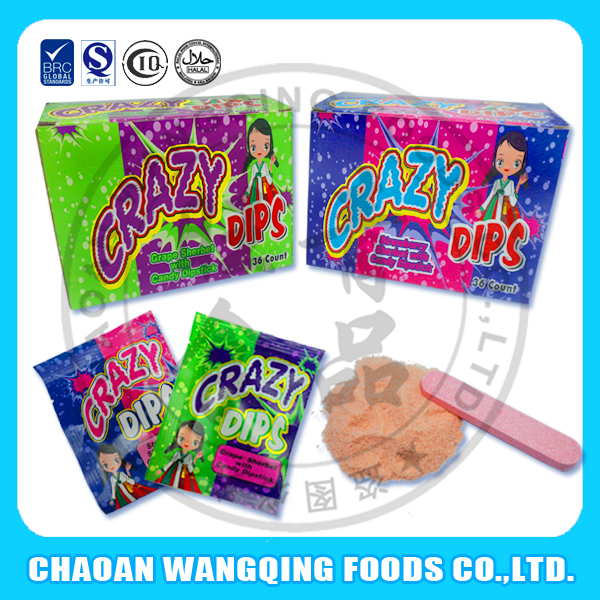 stick tablet candy with powder