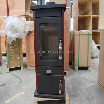 freestanding steel plate modern wood burning stove(DL005R)