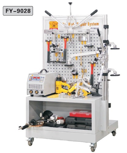cabinet with comeplete car body repair tools