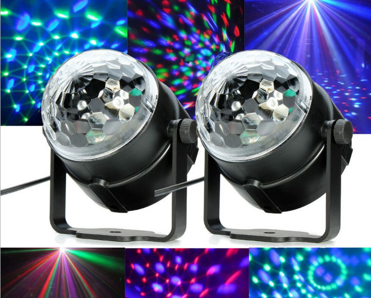 Mini RGB stage lighting 3W Projector DJ Lighting Dance Crystal Magic Ball Bar PartyRGB led star effect stage light