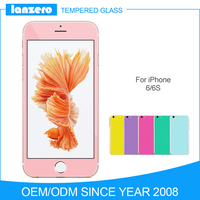 2.5D 0.33mm 9H Colorful Silk Printing Tempered Glass Screen Protector for iPhone 6/6S