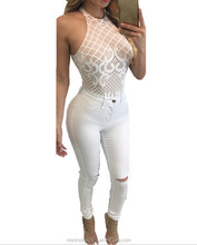 monroo Europea women hot style embroidery lace stitching sleepwear sexy back zipper tight lingeries