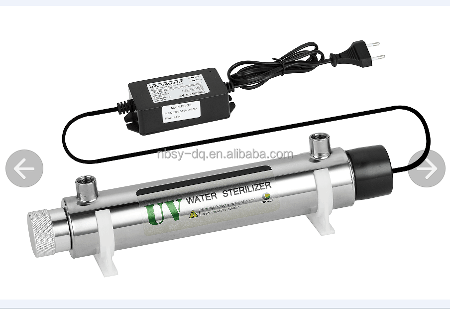 25W china ningbo drinking water uv disinfection system