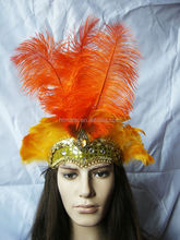 China Wholesale Colorful Handicraft Indian Feather Headdress