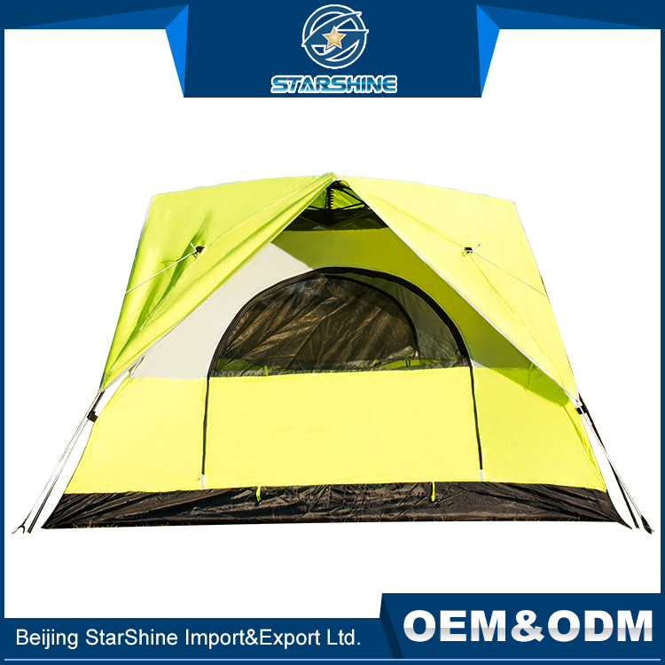 Useful 3-4 People Double Layers High Waterproof Tents Quick Auto Pop Up Scout Free Camping Tent