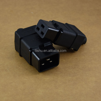 C19 female socket C20Male Standard IEC 320 C19 C20 Power cord connector