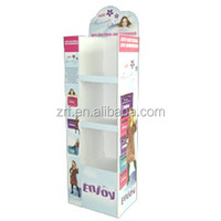 hot selling floor scrapbook paper display stand for books cardboard book display