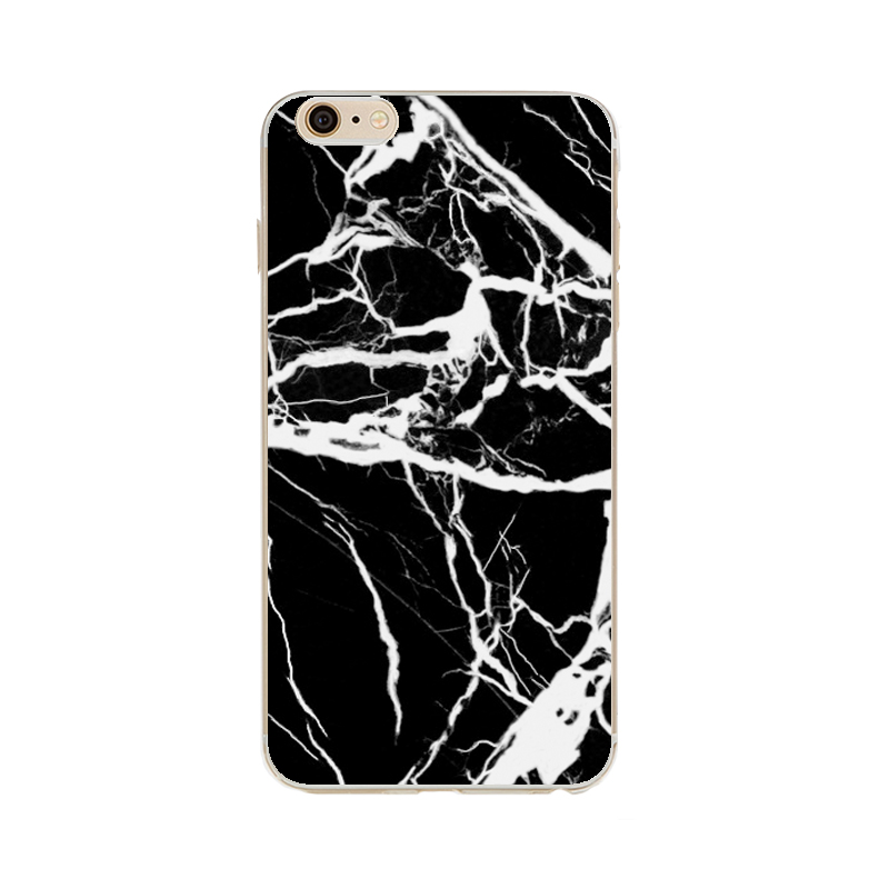Marble stone painted phone case back cover phone case for iPhone 6