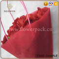drawstring non woven flower packaging sleeve